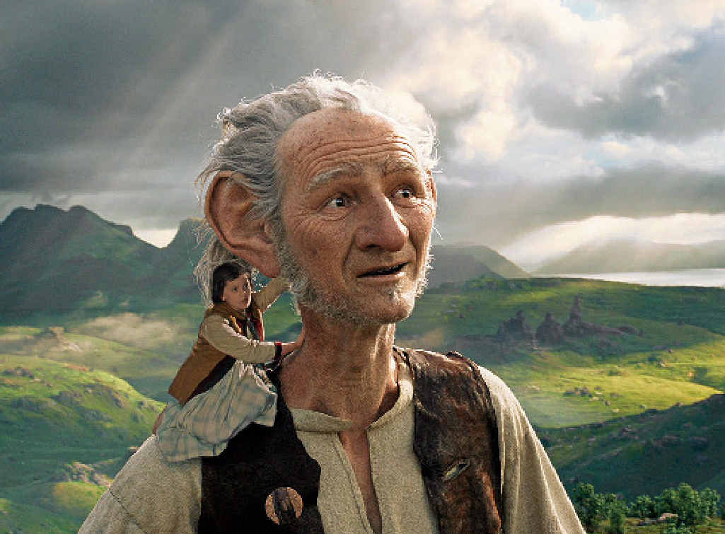 BIG AND LITTLE: A scene from the movie The BFG.