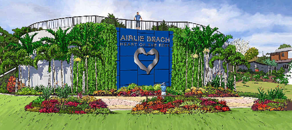 WELCOME: An artists impression of the new entry statement for Airlie Beach. Photo Tropical Designs.