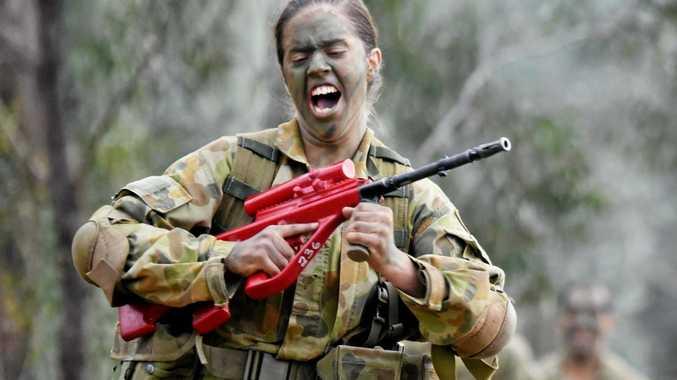 Rebecca Dunnett during her training in Kapooka, NSW.