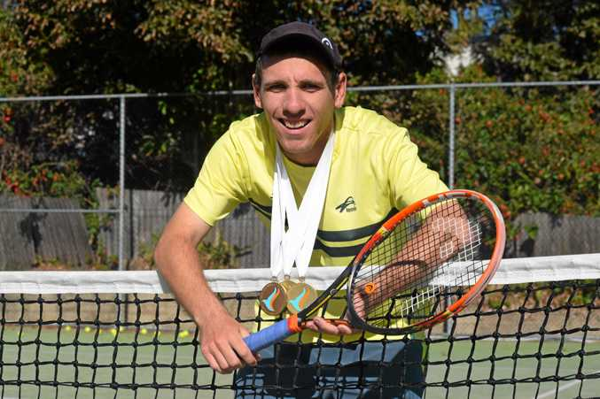 Englands Park tennis player Damian Phillips claimed three gold medals while representing Australia.