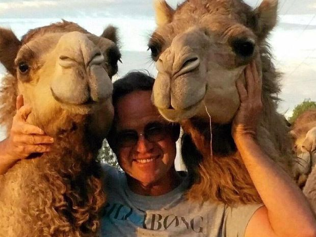 "TRUE LOVE: ""I love camels so much,"" Melanie Fitzgibbon says. But she says her husband Wayne Morris (pictured) has the job of keeping them all happy, because camels can soon stop giving milk if they are upset."