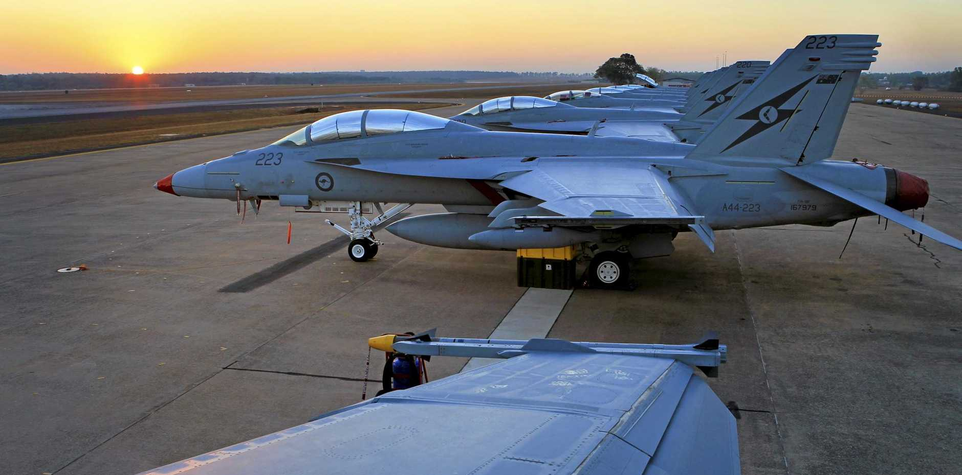 The F/A-18F Super Hornets from RAAF Base Amberley are participating in Exercise Pitch Black.