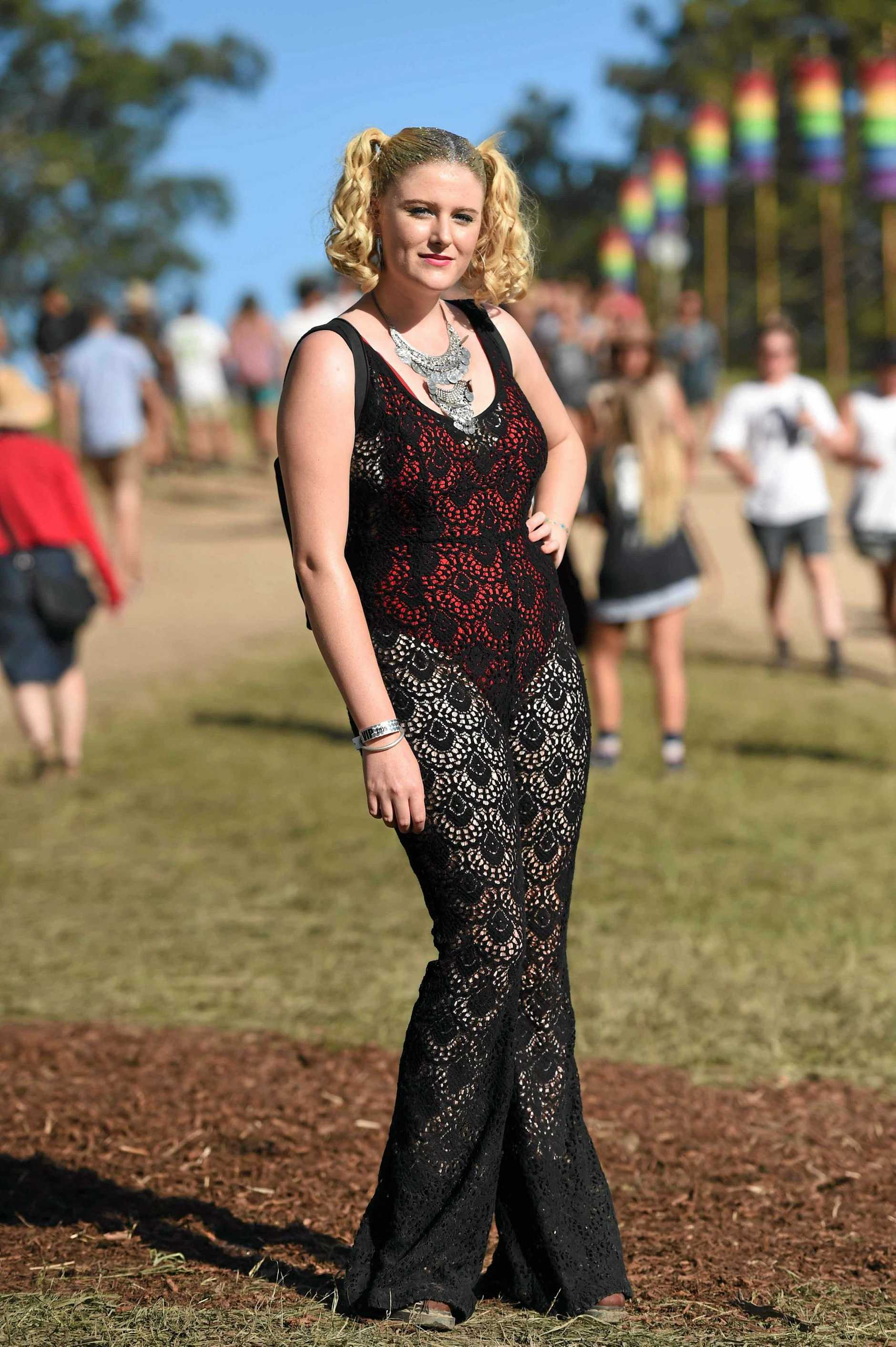 Punters at Falls Festival 2016 in Byron Bay at the Byron Bay Parklands.  Photo Marc Stapelberg / The Northern Star