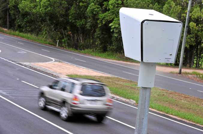 New speed camera operational along Nambour Connection Road, Woombye, at the site of the Hornby girls fatality. Photo: Iain Curry / Sunshine Coast Daily
