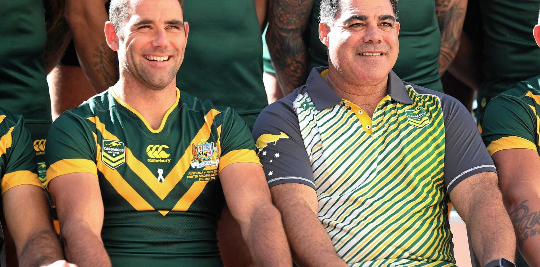 CUP DREAMS: Kangaroos captain Cameron Smith and coach Mal Meninga.