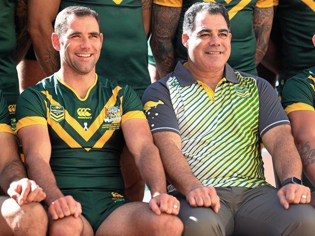 CUP DREAMS: Kangaroos captain Cameron Smith and coach Mal Meninga.