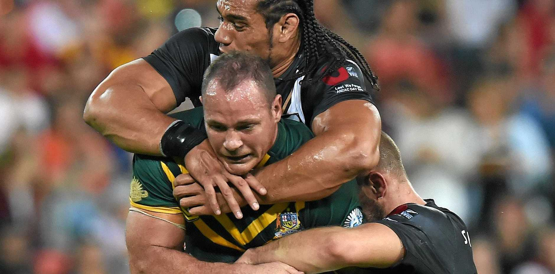 PROUD AUSSIE: Matt Scott in action for the Kangaroos last year.