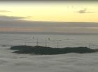 Fog covers Brisbane.
