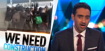 Waleed Aly hosting The Project on Ten.