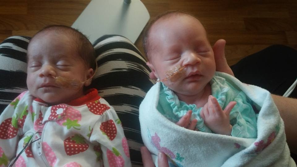 Newborns Darla and Delanie are a US mum Danesha Couch's third set of twins.