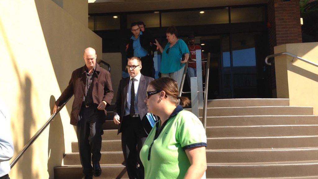 Police Officer Christopher O'Keefe outside the mackay Court House.