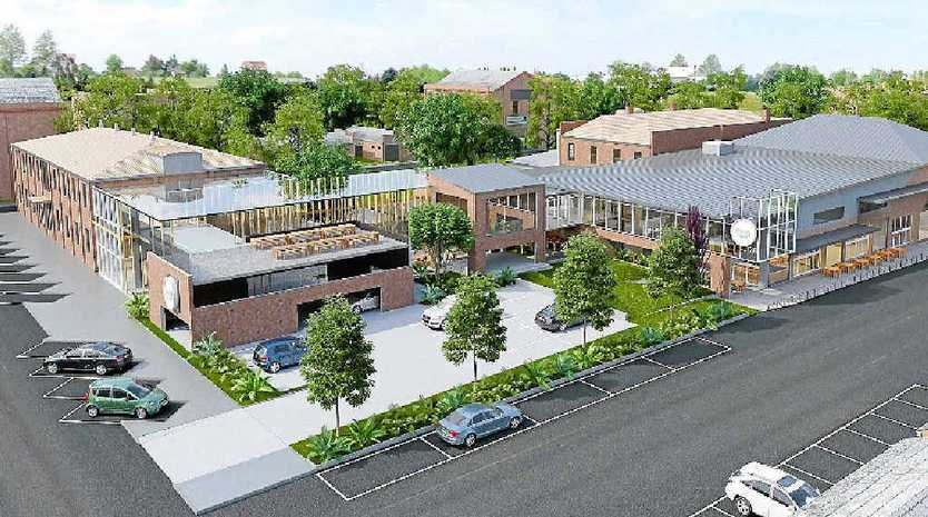 An artist's impression of the new Walton Stores development with Annand St on the left and a laneway on the right. Contributed