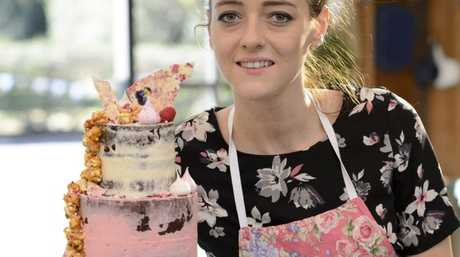 Mackay baker Jasmin Hartley didn't take top gong, but she impressed the judges with her layered red velvet showstopper creation. Contributed