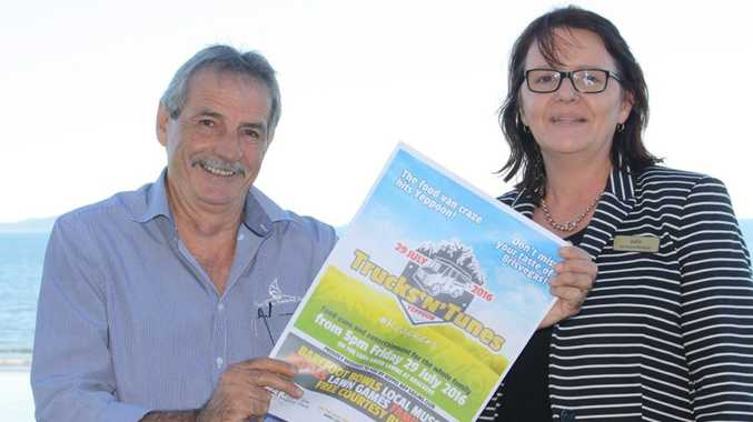 Krackers Operations Manager and Keppel Bay Sailing Club Manager can't wait to host Tracks N Tunes at Krackers on July 29. Photo Contributed / The Capricorn Coast Mirror