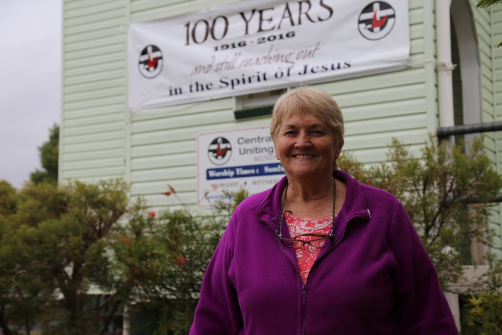 Sally Wells is the Chairperson of the Mundubbera Uniting Church.