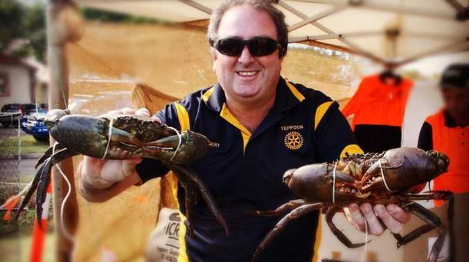 Rotary of Yeppoon Club's Robert Blyde at the I Crab Classic held at Coucom's Crab Pots and Fishing Gear in June which raised funds for the RACQ Capricorn Rescue Helicopter Service. Photo Contributed / The Capricorn Coast Mirror