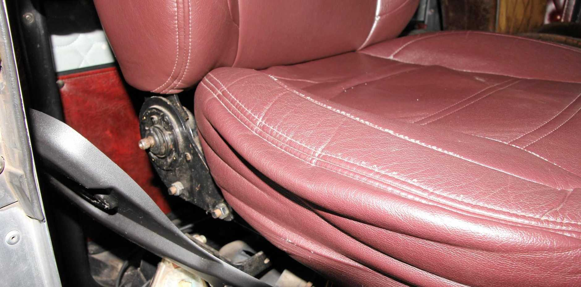 Yesterday police issued a defect notice for this loose seat.