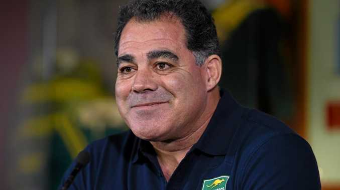 EXPERIENCED CAMPAIGNER: Former Queensland State of Origin coach and player Mal Meninga answers a question after being announced as the new Kangaroos coach in December.