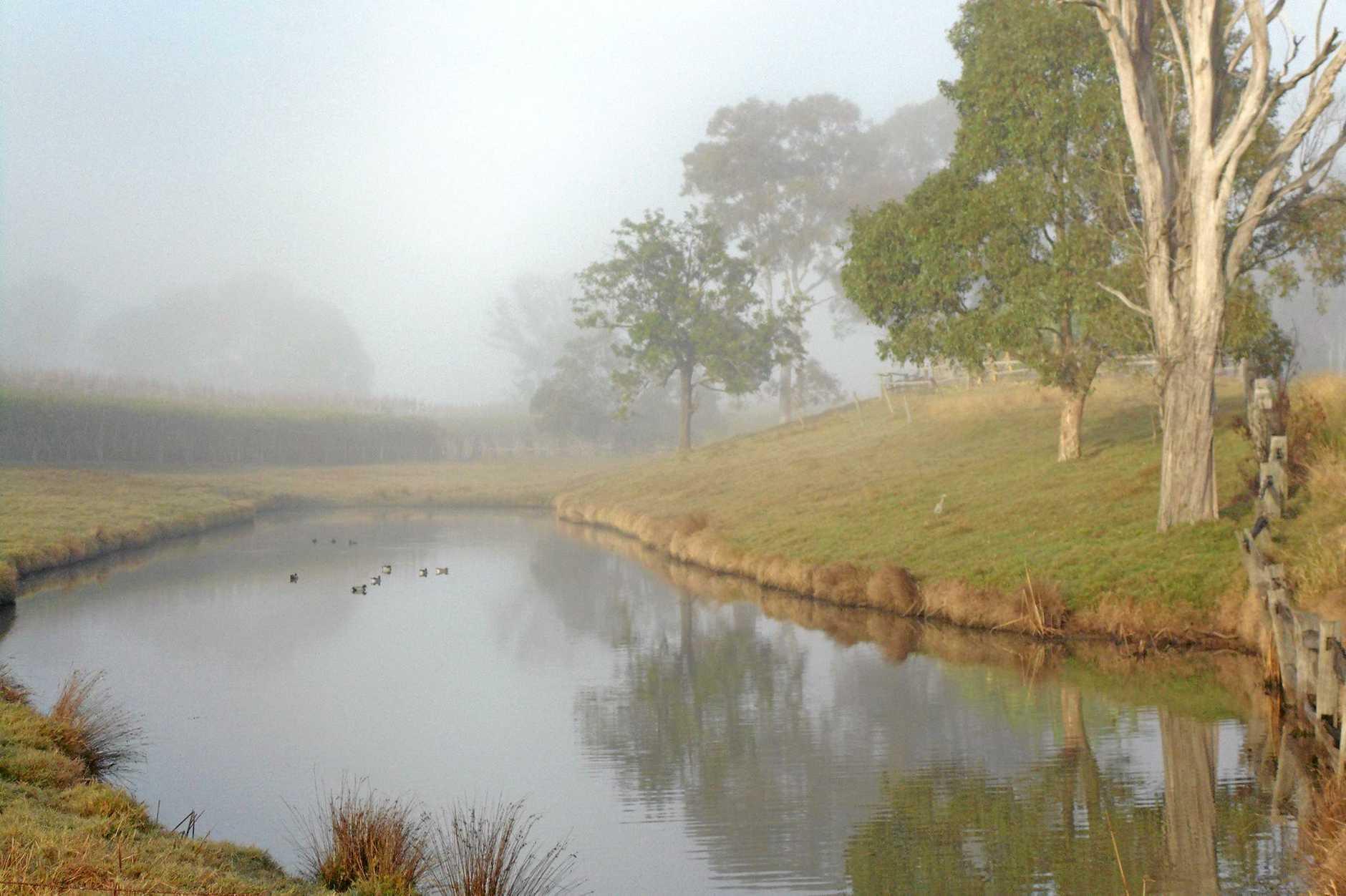 Misty morning at The Pocke in  Maryborough.