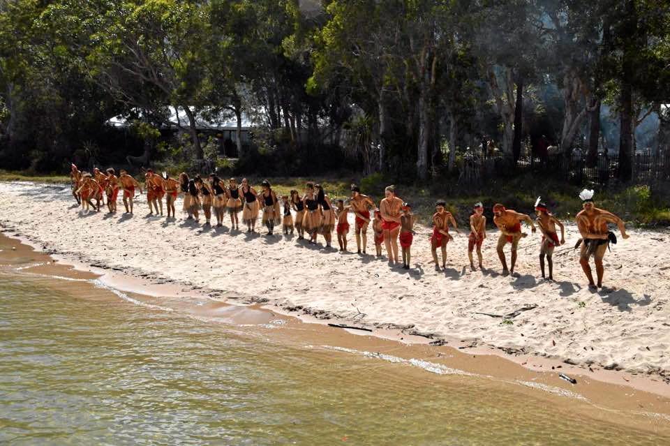 Butchulla dancers on Fraser Island.