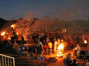 Sparks fly at Killarney Bonfire Night