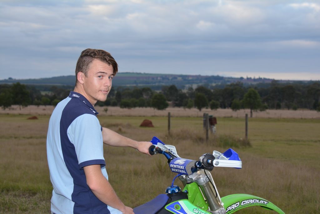 CLOSE CALL: After Jayden O'Connell, 17, almost lost his leg in a quad bike accident, he says he turned to two-wheelers for a safer ride.