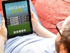 TOP: Online gambling means a punt is always within in arm's reach.
