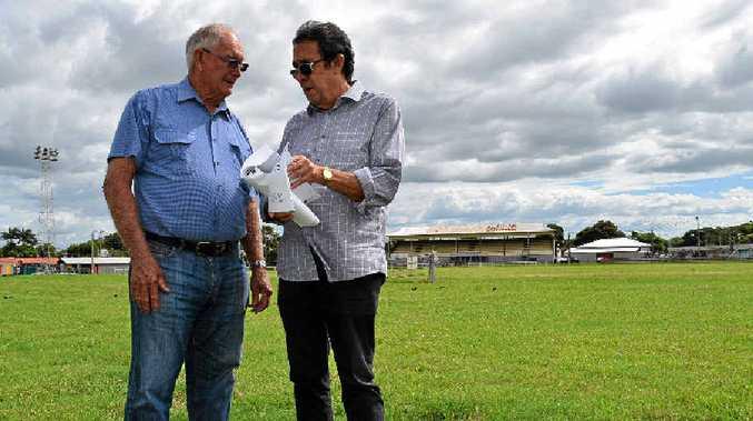 HAPPY: Mackay Show Association president Robert Denman and manager secretary Steve Gavioli.
