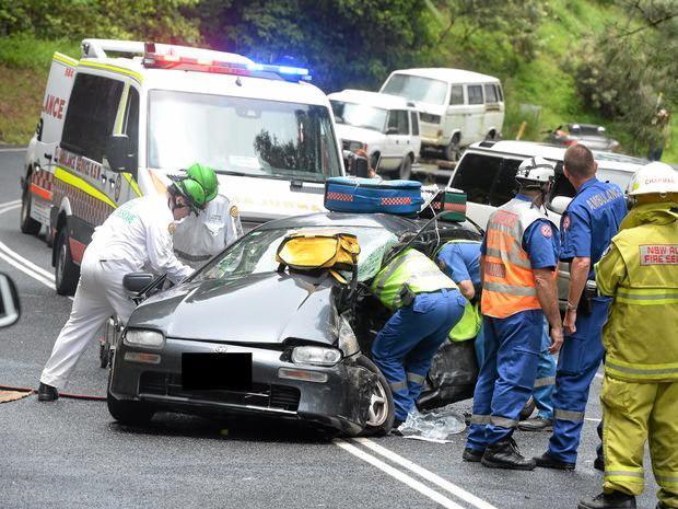 A fatality near Uki on Kyogle Rd.