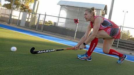 WOMEN'S HOCKEY: Amanda Wightman prepares for the veterans hockey tournament this weekend.
