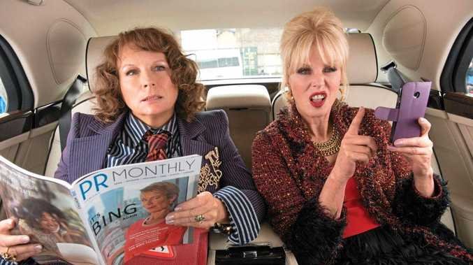 Jennifer Saunders and Joanna Lumley as Eddie and Patsy in Absolutely Fabulous: The Movie.