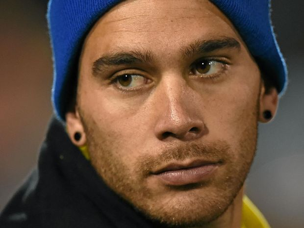 SIDELINE STINT: Corey Norman of the Eels looks on after his team's loss to the Panthers in round 19.