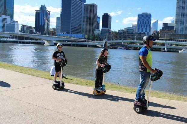 Segway tours along the Brisbane River.