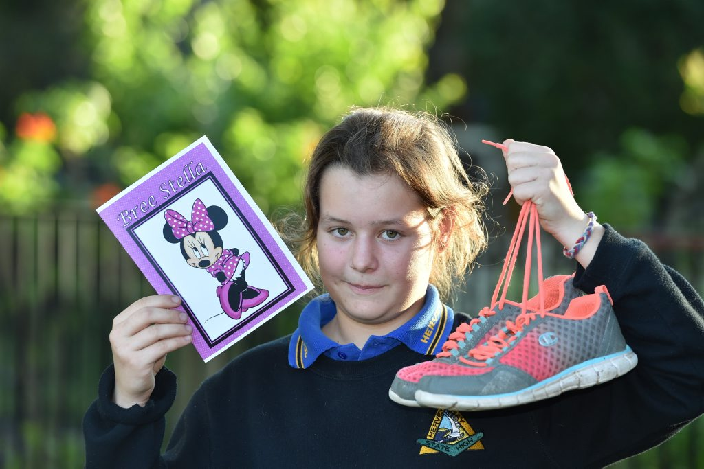 12 yr old Savannah Buchan organizing a fun run to raise money for bone cancer in memory of school friend Bree Blucher.