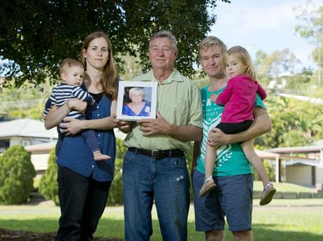 CLOSURE: Casey, Owen, 7 months, Bill and Andrew Cary with Hazel, 3.