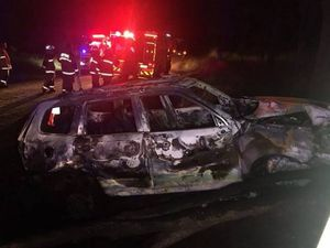 Man dies after being pulled from burning crash wreck