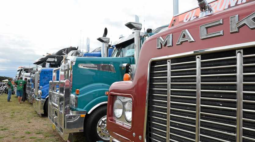 Trucks at the Lowood Truck Show on August 29 last year.