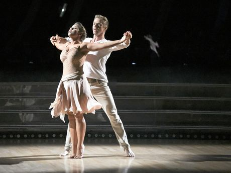 Bindi Irwin and Derek Hough perform on Dancing With The Stars in the US.