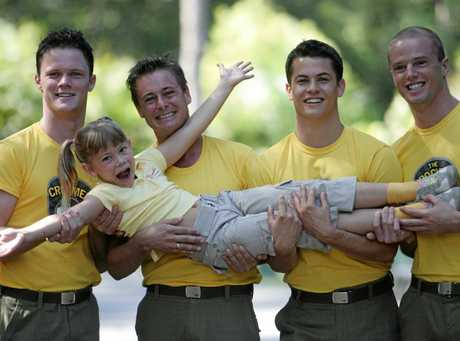 Bindi Irwin with the Crocmen.