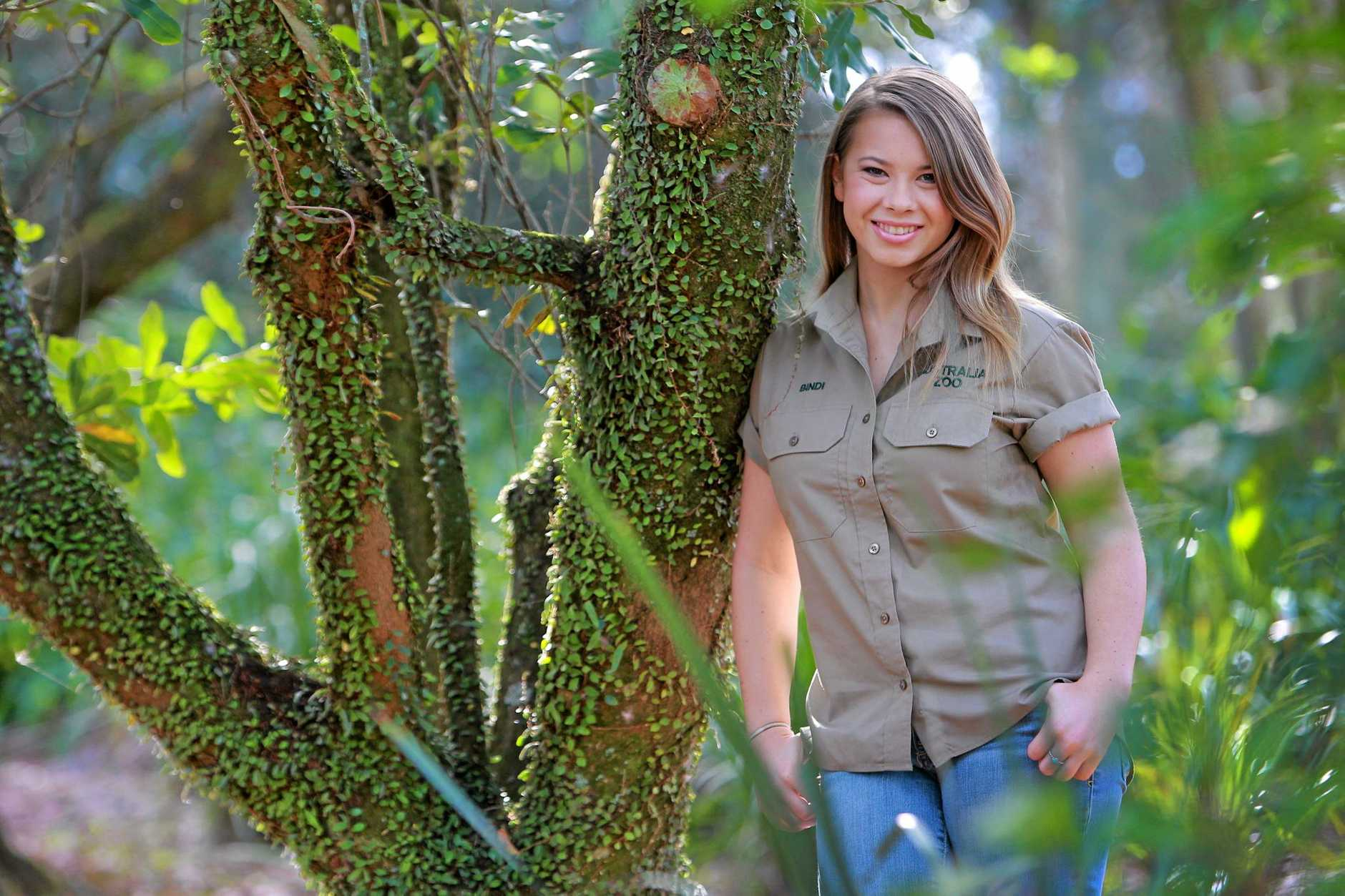 Bindi Irwin pictured in the lead up to her 16th birthday.