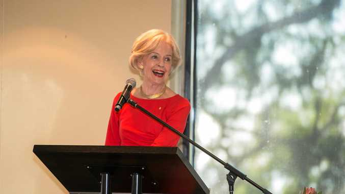 MAKE A DIFFERENCE: Quentin Bryce speaks at the domestic violence breakfast.