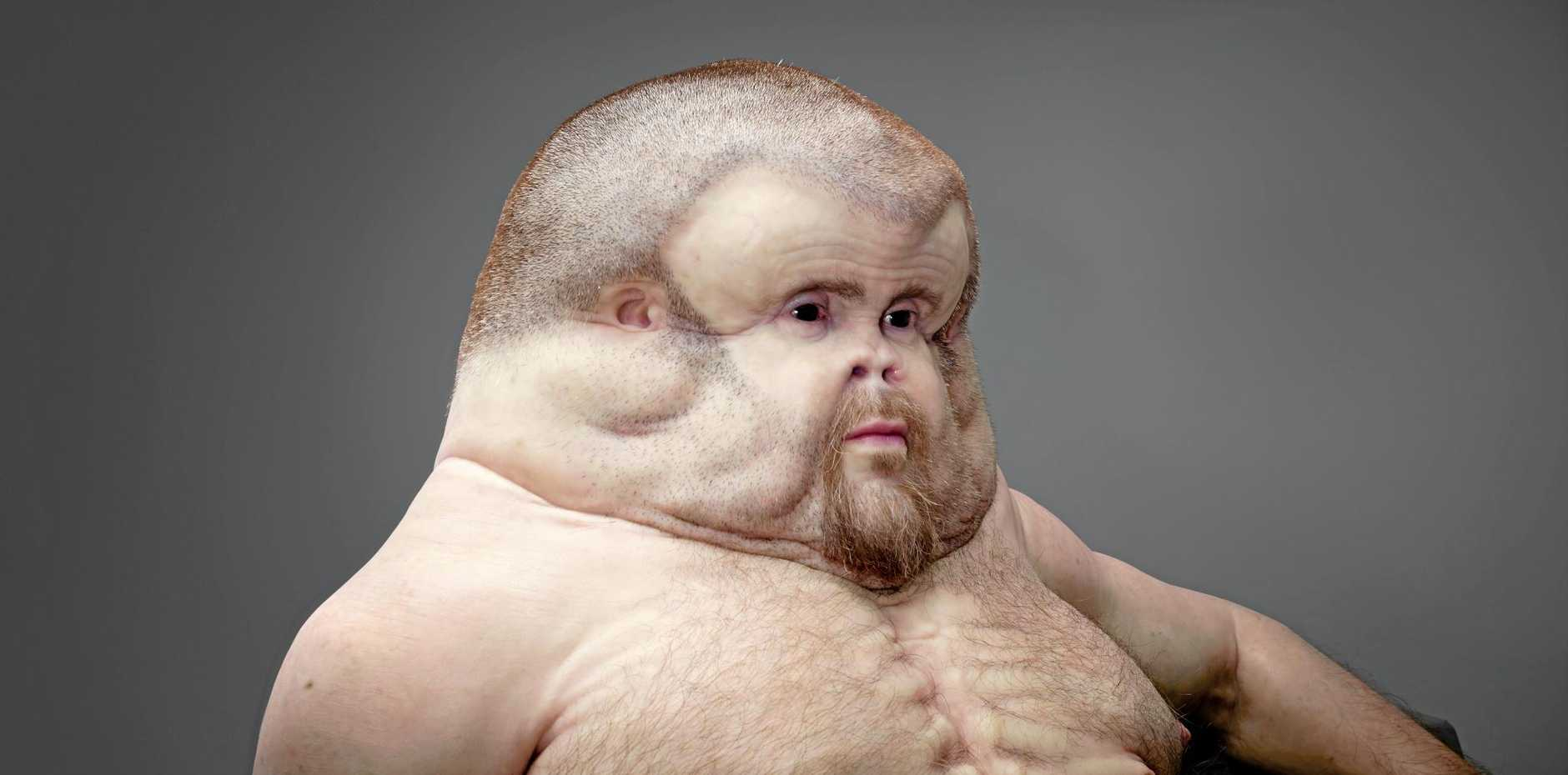 Nope, that isn't Jabba the Hutt...it's Graham, an example of what we'll look like if we evolve to survive car crashes.