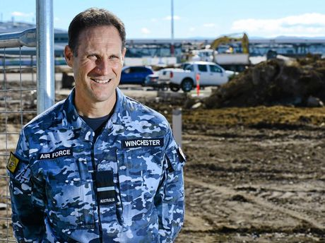 MOVING: Wing Commander Scott Winchester discusses the billion dollar developments that are underway at RAAF Base Amberley.