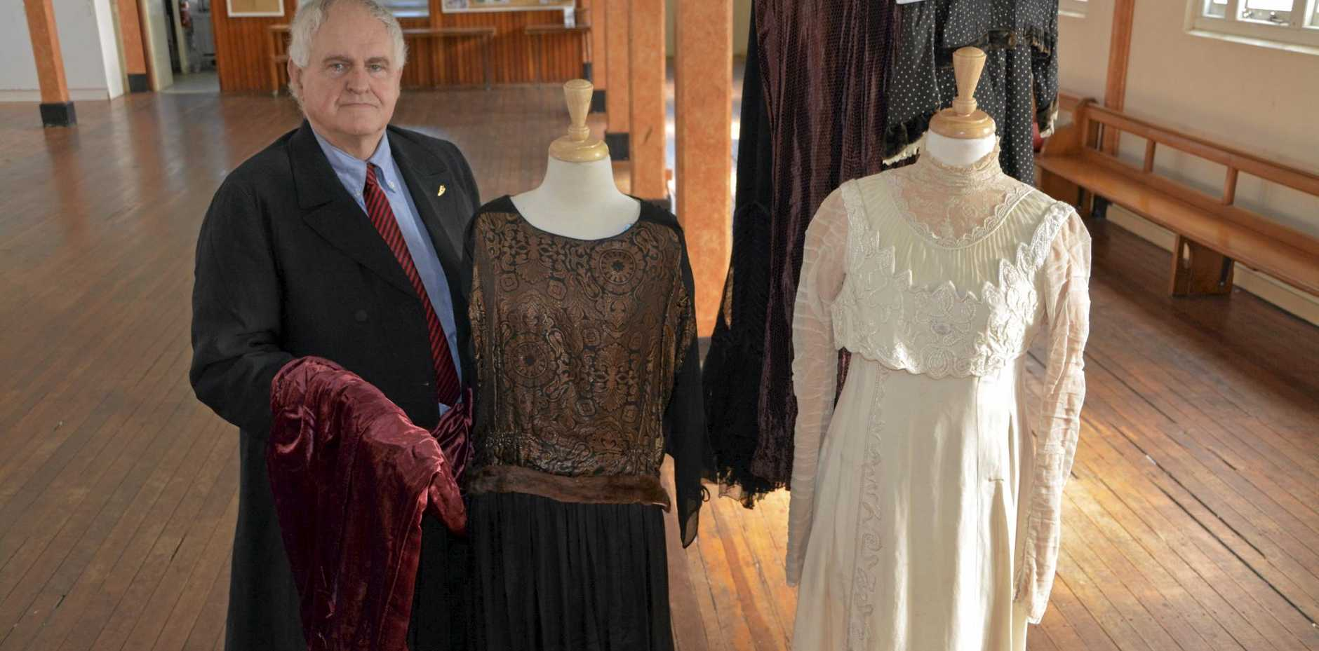 BARGAIN PRICES: Keith Baverstock is excited to be offering vintage fashion items to Toowoomba residents today.