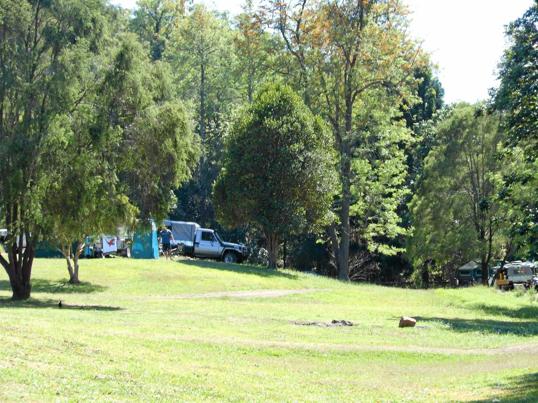 Glastonbury Creek Camping Grounds, where two men were held captive on Monday morning before they managed to escape.