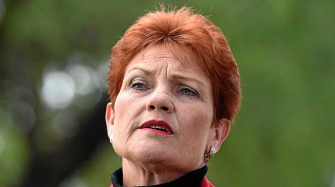 Queensland Senator-elect, One Nation's Pauline Hanson, looks on during a news conference in Brisbane, Monday, July 4, 2016. One Nation is expected to win two Senate seats in Queensland, one in NSW and possibly one in Western Australia. (AAP Image/Dan Peled) NO ARCHIVING