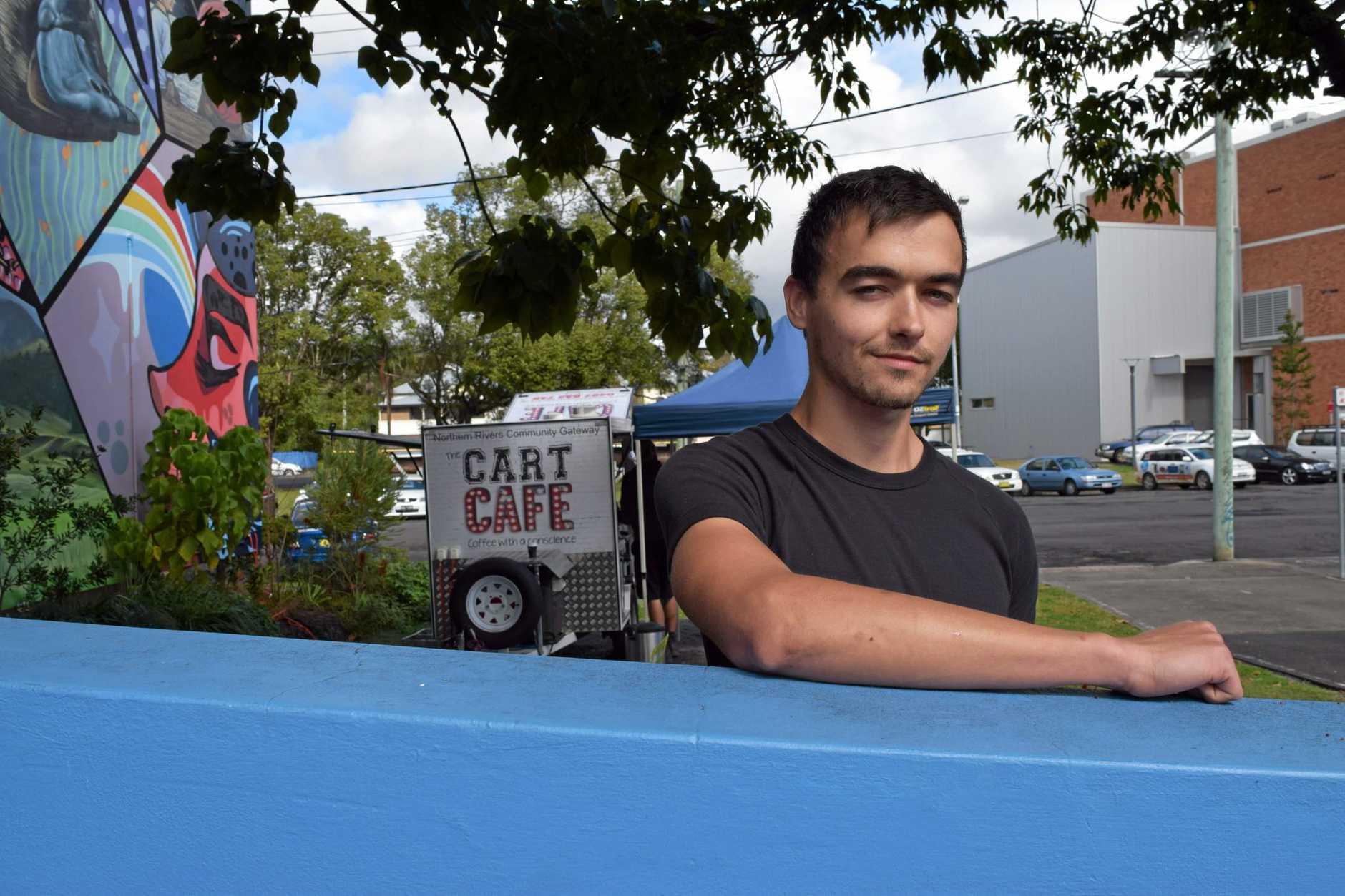 David Barnes, barrista at the Northern Rivers Community Gateway Coffee Cart.