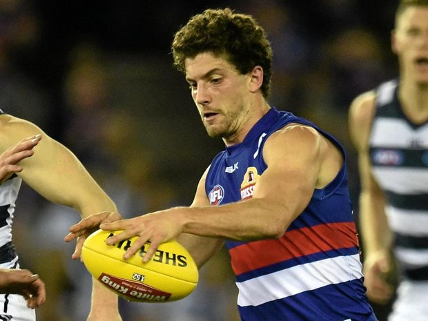 RETURN TO ACTION: Tom Liberatore of the Bulldogs will be back to boost his team against the Saints.