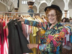 Vintage lovers grab a bargain at CBD fashion sale