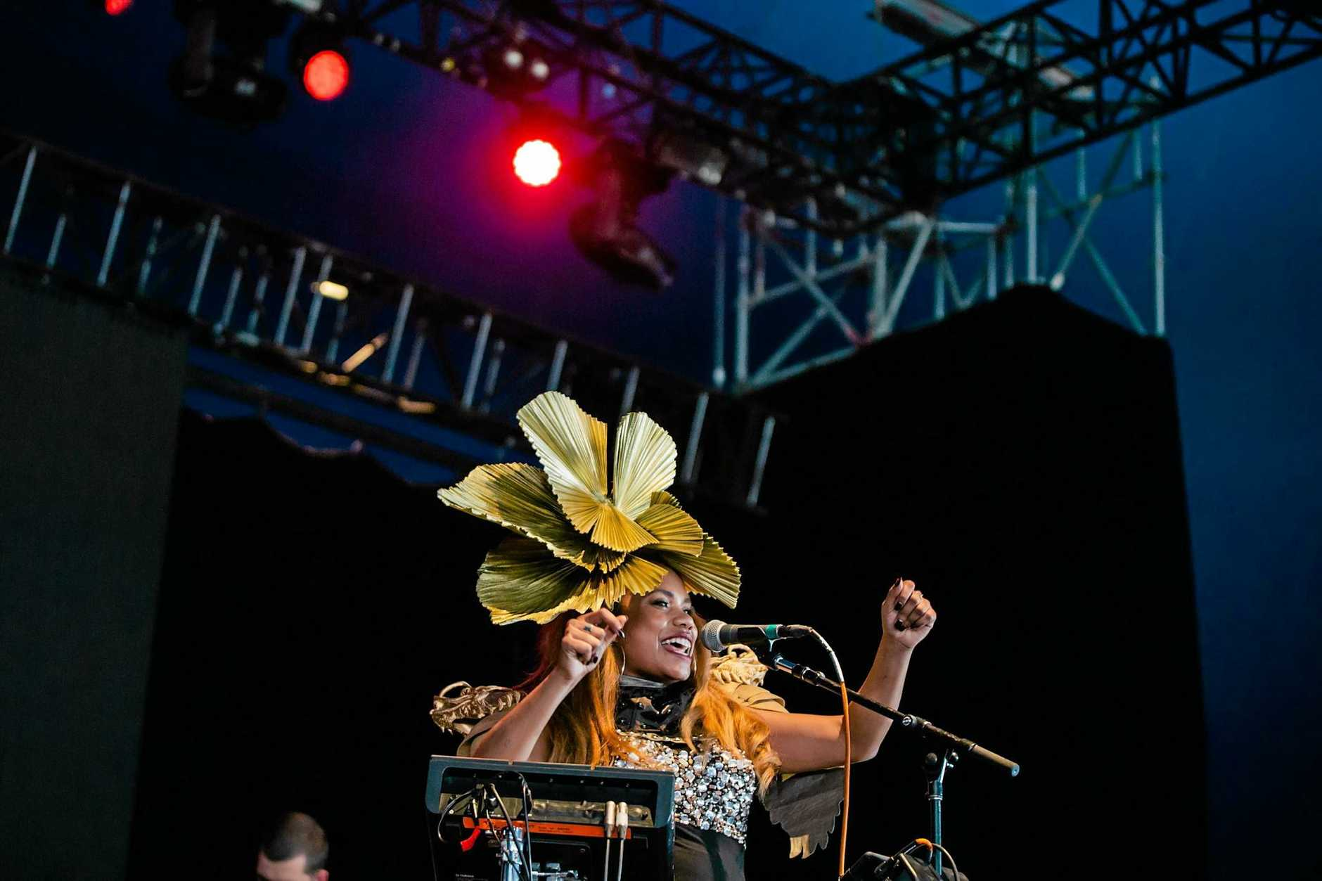 Former Lismore resident Ngaiire during her show at Splendour in the Grass 2016.
